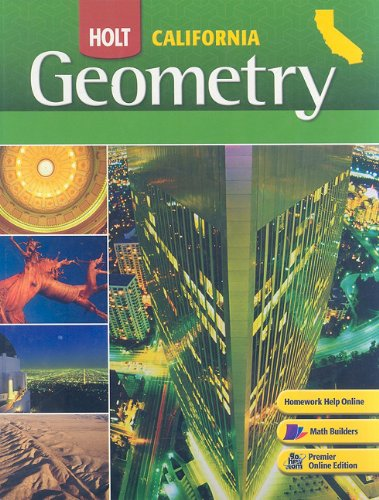 California Holt Geometry  2008 9780030923456 Front Cover