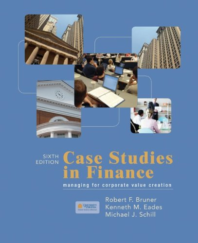 Case Studies in Finance  6th 2010 9780073382456 Front Cover
