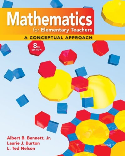 Mathematics for Elementary Teachers A Conceptual Approach 8th 2010 edition cover