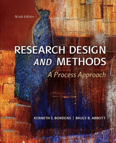 Research Design and Methods A Process Approach 9th 2014 edition cover