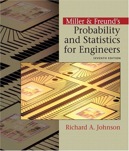 Miller and Freund's Probability and Statistics for Engineers  7th 2005 edition cover