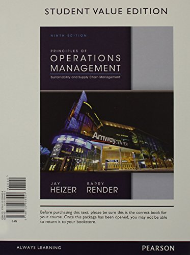 Prin Opers Managemt Stdnt Value& Student CD   2014 9780133404456 Front Cover