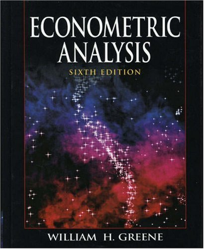 Econometric Analysis  6th 2008 9780135132456 Front Cover