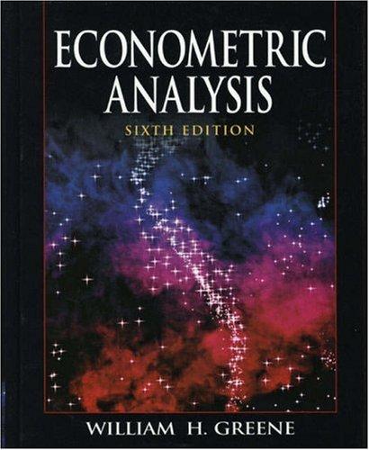 Econometric Analysis  6th 2008 edition cover