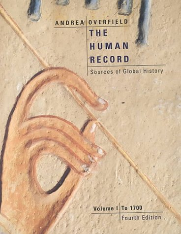 Human Record Sources of Global History to 1700 4th 2001 edition cover