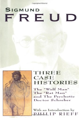 """Three Case Histories The """"Wolf Man"""", the """"Rat Man"""", and the Psychotic Doctor Schreber  1996 edition cover"""
