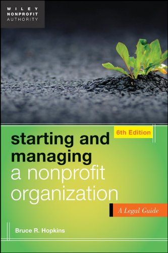 Starting and Managing a Nonprofit Organization A Legal Guide 6th 2013 edition cover