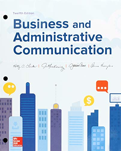 Loose-Leaf for Business and Adminstrative Communication  12th 2018 9781260686456 Front Cover