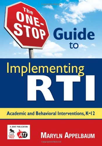 One-Stop Guide to Implementing RTI Academic and Behavioral Interventions, K-12  2009 edition cover