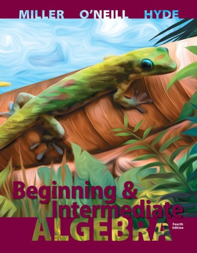 Beginning and Intermediate Algebra  4th 2014 9780077543457 Front Cover