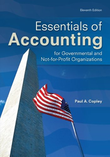 Essentials of Accounting for Governmental and Not-For-Profit Organizations  11th 2013 edition cover