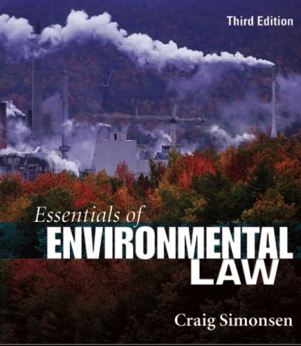 Essentials of Environmental Law  3rd 2007 edition cover