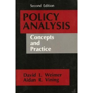 Policy Analysis Concepts and Practice 2nd 1992 edition cover