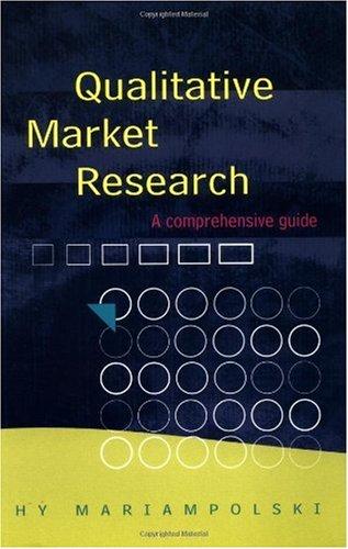 Qualitative Market Research   2001 edition cover