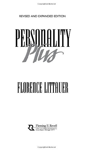 Personality Plus How to Understand Others by Understanding Yourself 2nd 1992 (Revised) edition cover