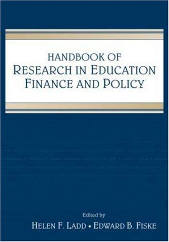 Handbook of Research in Education Finance and Policy   2008 edition cover
