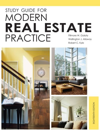 Study Guide for Modern Real Estate Practice 18th 2010 edition cover