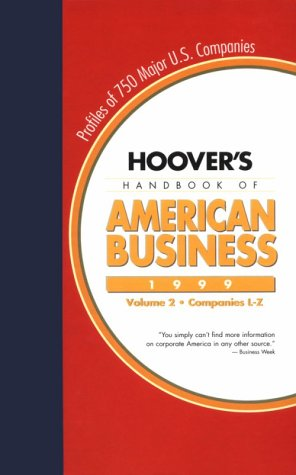 Hoover's Handbook of American Business, 1999 1st (Revised) edition cover