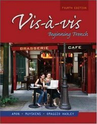 Vis-�-Vis Beginning French 4th 2008 9780073289458 Front Cover