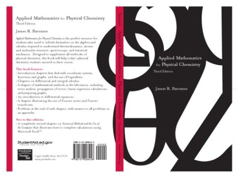 Applied Mathematics for Physical Chemistry  3rd 2004 (Revised) edition cover