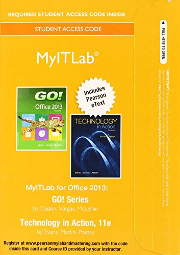MyITLab with Pearson EText -- Access Card -- for GO! with Technology in Action 11th 2015 edition cover
