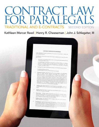 Contract Law for Paralegals  2nd 2013 (Revised) edition cover
