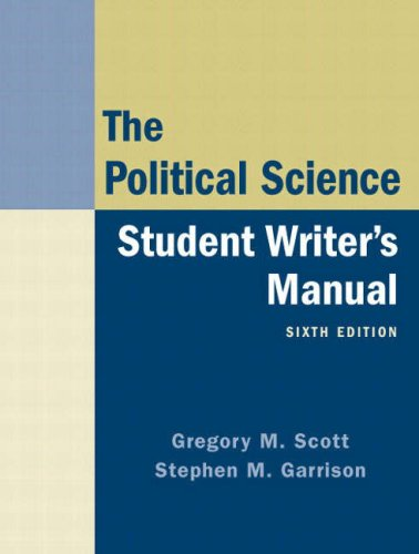 Political Science Student Writer's Manual  6th 2008 edition cover