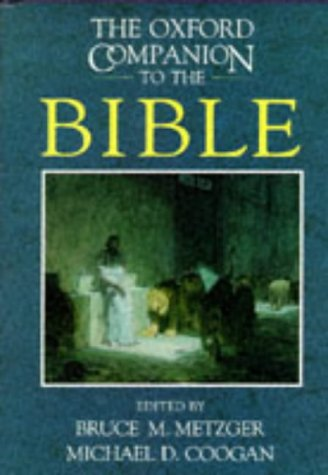 Oxford Companion to the Bible   1993 edition cover