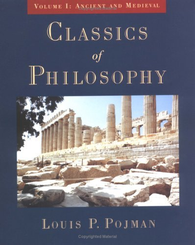 Classics of Philosophy Ancient and Medieval  1998 (Reprint) 9780195116458 Front Cover