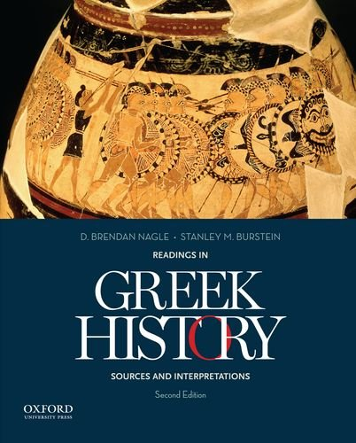 Readings in Greek History Sources and Interpretations 2nd 2013 edition cover