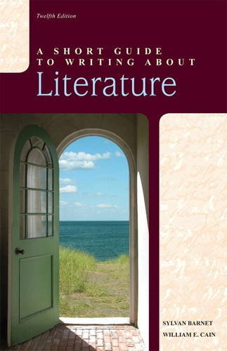 Short Guide to Writing about Literature  12th 2012 (Revised) edition cover