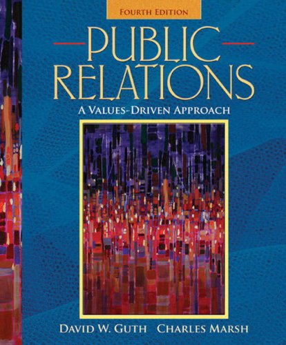 Public Relations A Values-Driven Approach 4th 2009 edition cover