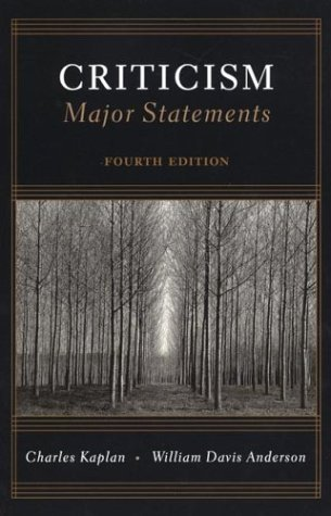 Criticism Major Statements 4th 2000 edition cover