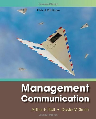 Management Communication  3rd 2010 edition cover