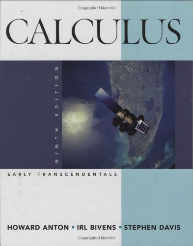 Calculus Early Transcendentals 9th 2009 9780470183458 Front Cover