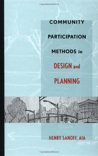 Community Participation Methods in Design and Planning  1st 2000 edition cover