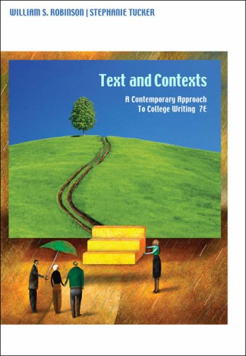 Texts and Contexts A Contemporary Approach to College Writing 7th 2009 (Revised) edition cover