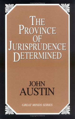Province of Jurisprudence Determined   2000 (Unabridged) edition cover