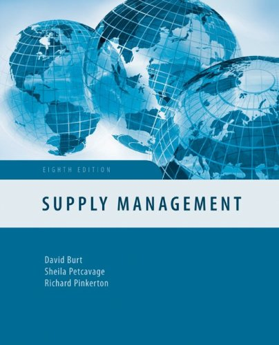 Supply Management  8th 2010 9780073381459 Front Cover