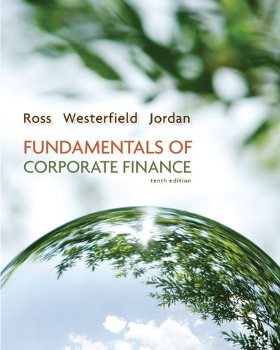 Fundamentals of Corporate Finance 10th 2013 (Alternate) 9780077479459 Front Cover