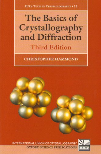 Basics of Crystallography and Diffraction  3rd 2009 edition cover
