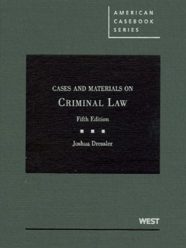 Cases and Materials on Criminal Law, 5th  5th 2010 (Revised) edition cover