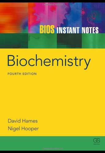 Instant Notes in Biochemistry  4th 2011 (Revised) edition cover