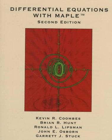 Differential Equations with Maple  2nd 1997 (Revised) 9780471176459 Front Cover