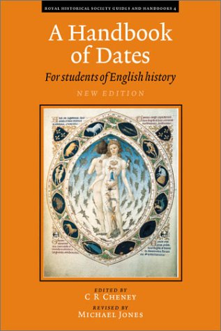 Handbook of Dates For Students of British History 2nd 2000 (Revised) edition cover