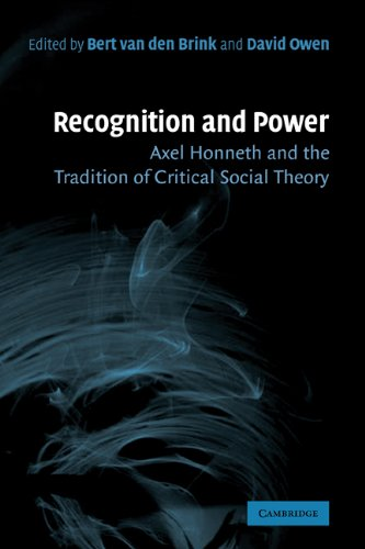 Recognition and Power Axel Honneth and the Tradition of Critical Social Theory  2007 9780521864459 Front Cover