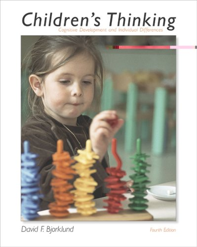 Children's Thinking Cognitive Development and Individual Differences 4th 2005 (Revised) edition cover