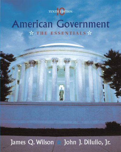 American Government The Essentials 10th 2006 edition cover