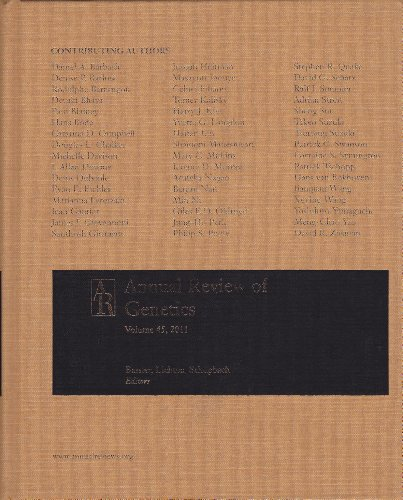 Annual Review of Genetics   2011 edition cover