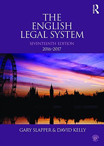 English Legal System  17th 2016 (Revised) 9781138944459 Front Cover